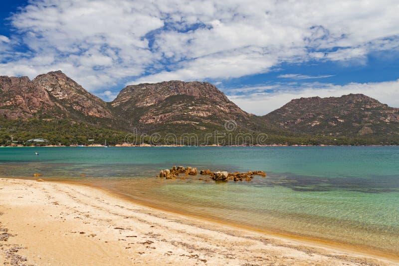 Bahía de la ostra en Tasmania imágenes de archivo libres de regalías
