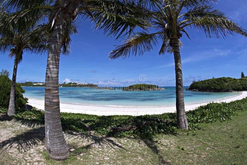 Bahía de la playa y de la tortuga de Clearwater, Bermudas imagen de archivo