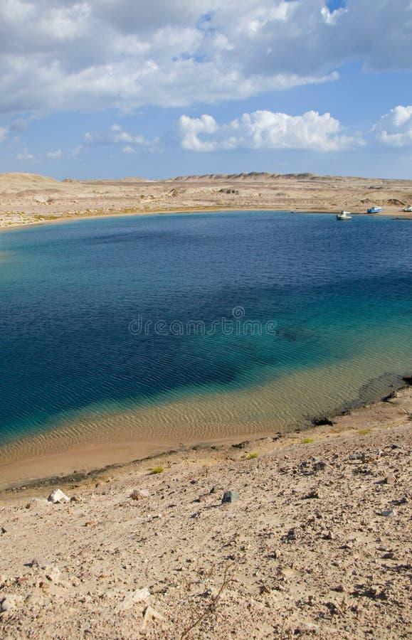 Bahía de la tortuga en Egipto foto de archivo libre de regalías
