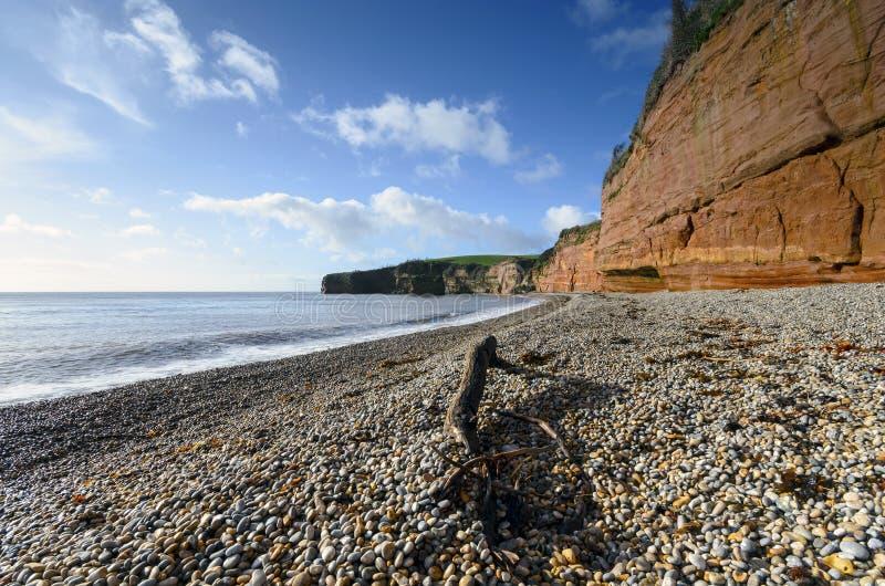 Bahía de Ladram en Devon imagen de archivo libre de regalías