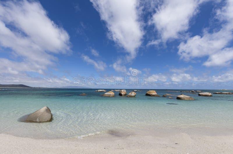 Bahía de los aserradores, isla del Flinders, Tasmania fotografía de archivo libre de regalías