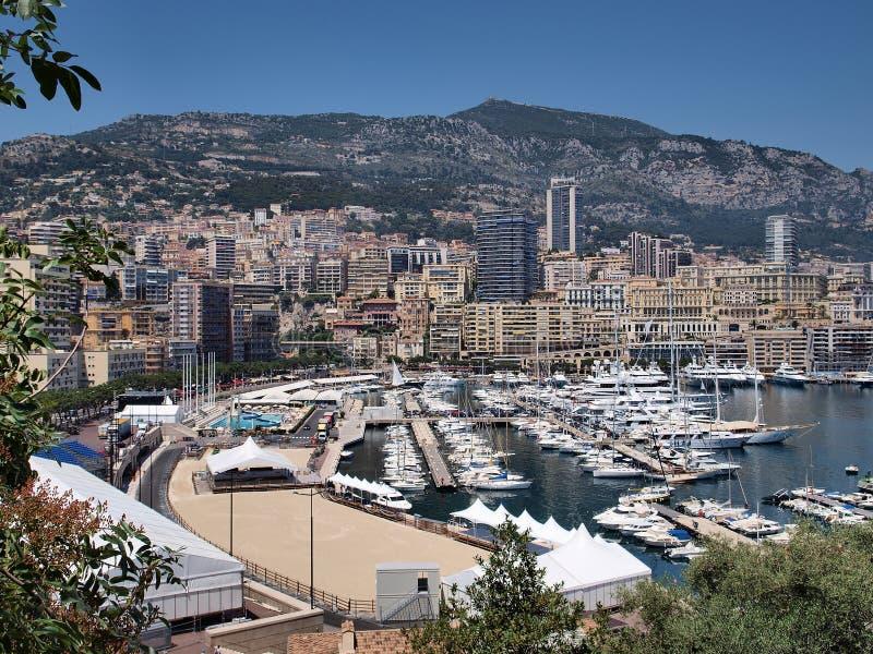 Bahía de Mónaco foto de archivo libre de regalías