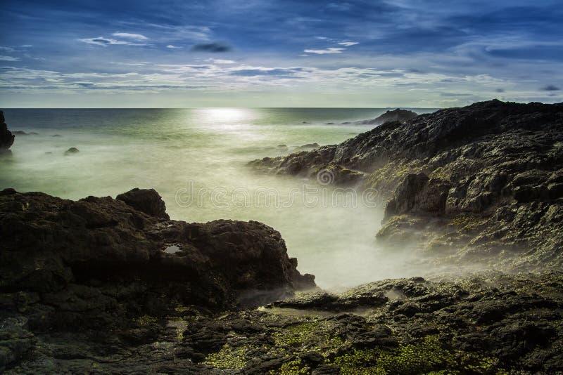Bahía de Menganti foto de archivo