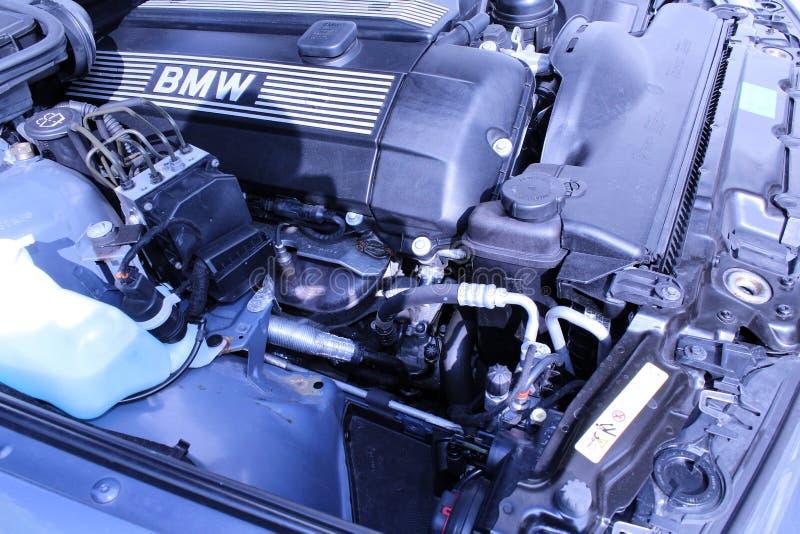 Bahía de motor de BMW fotografía de archivo libre de regalías