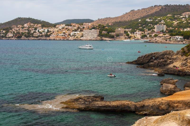 Bahía de Paguera, Mallorca imagenes de archivo
