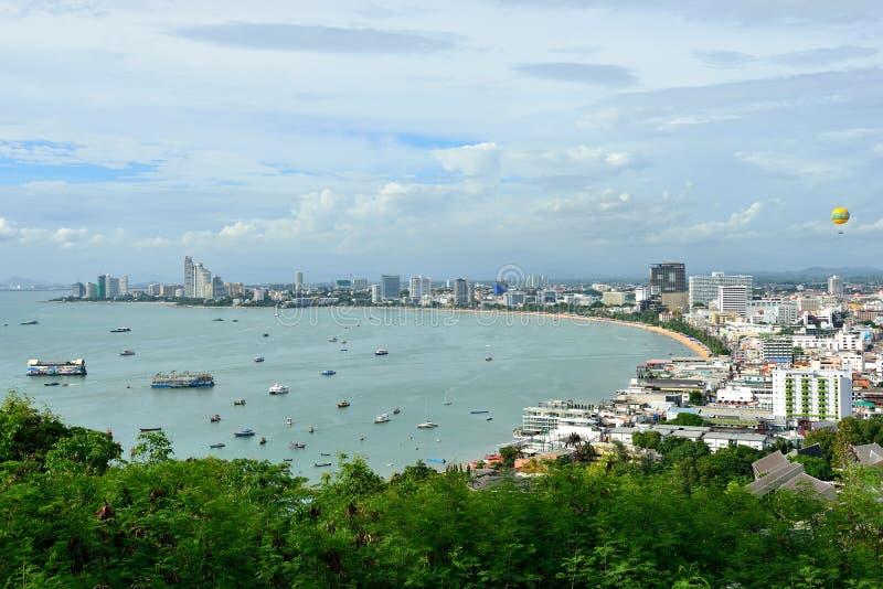 Bahía de Pattaya foto de archivo libre de regalías