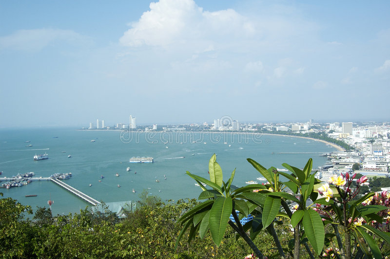 Bahía de Pattaya. imagen de archivo libre de regalías
