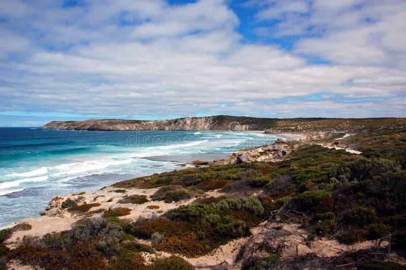 Bahía de Pennington, isla del canguro, sur de Australia. foto de archivo libre de regalías
