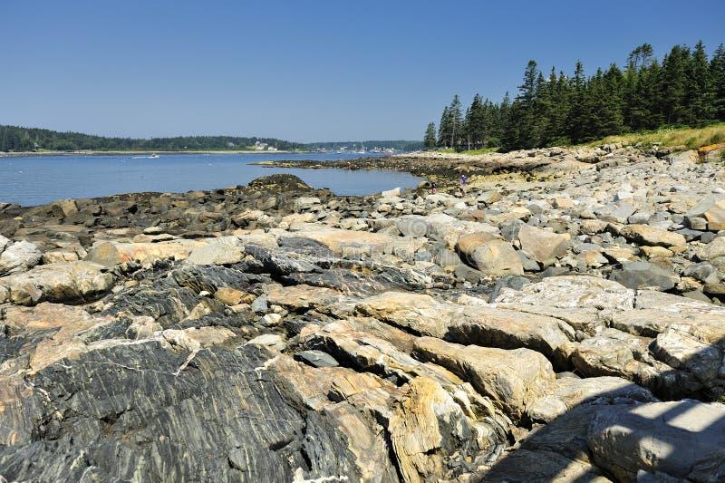 Bahía de Penobscot, punta de Marshall, Maine, los E.E.U.U. foto de archivo libre de regalías