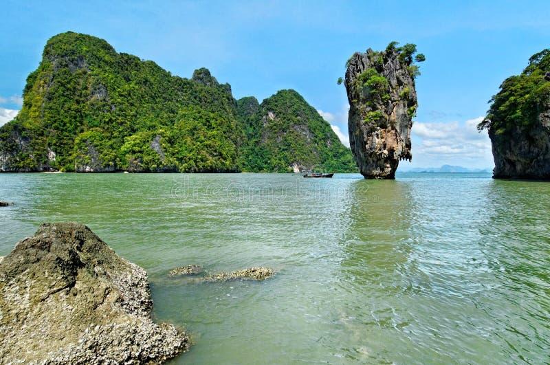 Bahía de Phang Nga escénica imagenes de archivo