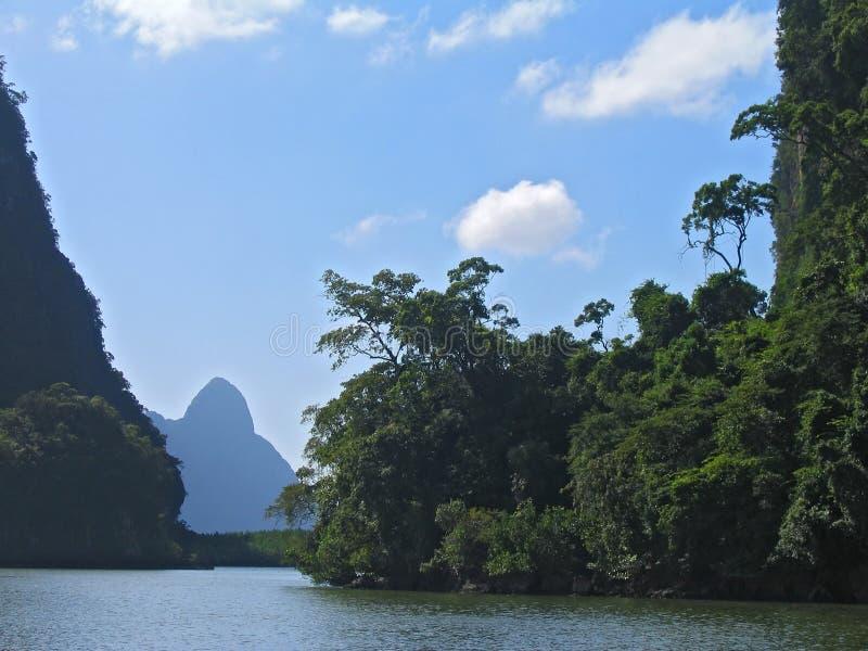 Bahía de Phang Nga, Tailandia fotos de archivo