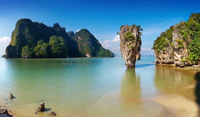 Bahía de Phang Nga, Tailandia imagen de archivo