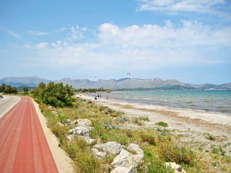 Bahía de Pollenca/de la península Formentor, Majorca del norte imagenes de archivo