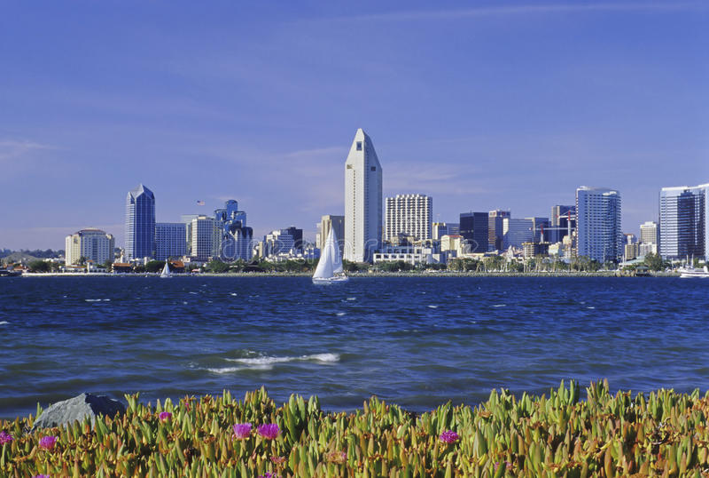 Bahía de San Diego foto de archivo libre de regalías