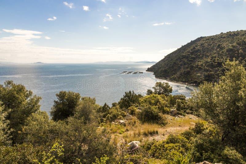 Bahía de Selonda, Grecia fotografía de archivo
