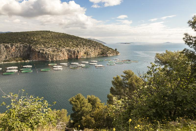 Bahía de Selonda, Grecia imágenes de archivo libres de regalías