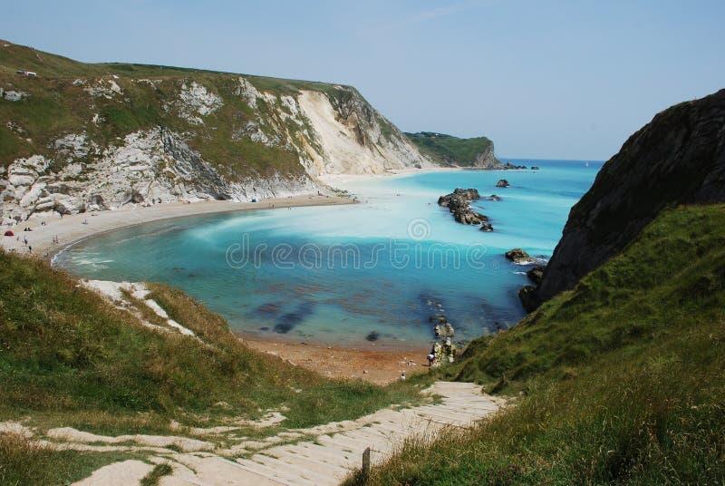 Bahía de St.Oswalds cerca de la puerta de Durdle, Dorset foto de archivo libre de regalías