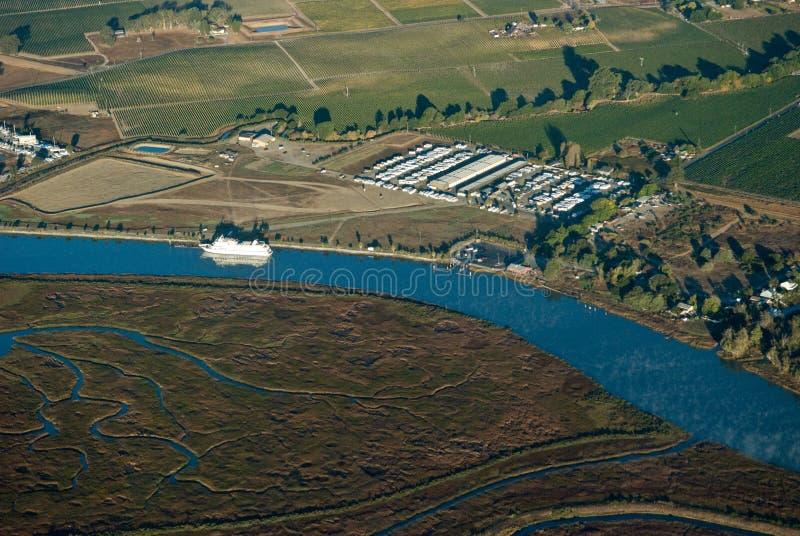 Bahía de Vallejo del aire fotografía de archivo libre de regalías