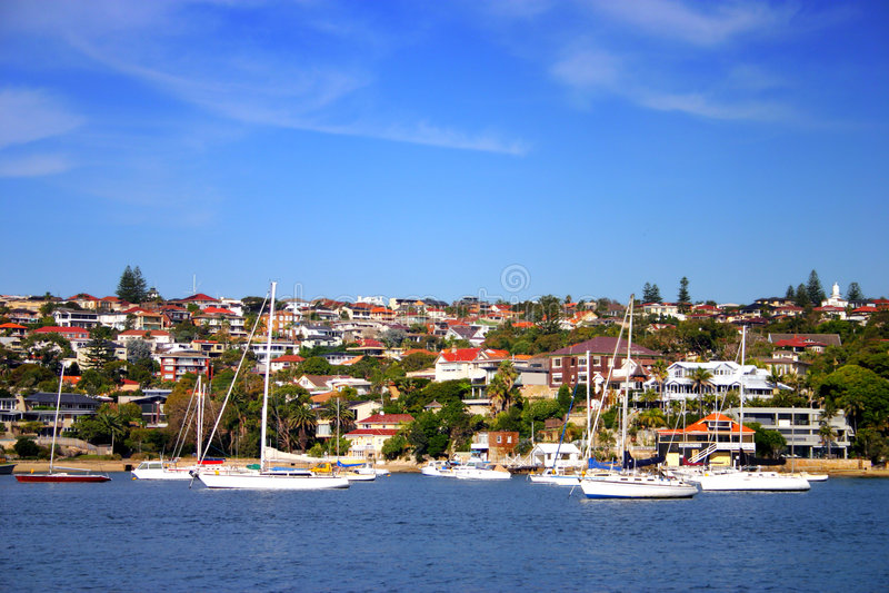 Bahía de Watsons, NSW, Australia fotografía de archivo