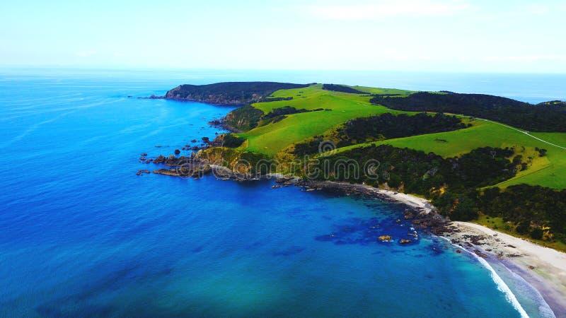 Bahía del ancla, Nueva Zelanda fotografía de archivo