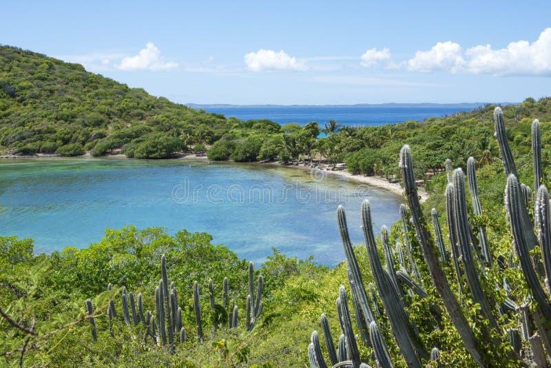Bahía del Caribe hermosa y paisaje imagenes de archivo