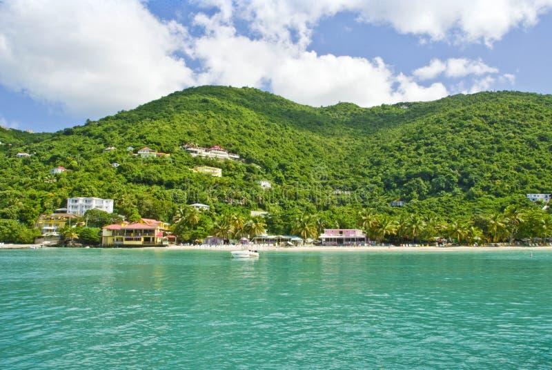 Bahía del jardín del bastón de la isla de Tortola fotos de archivo