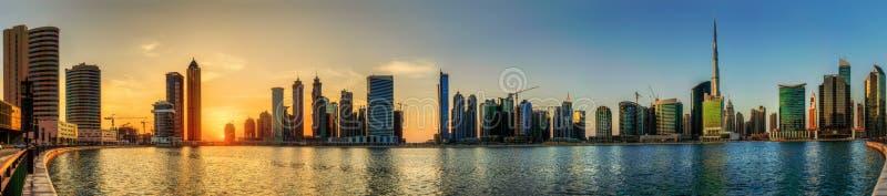 Bahía del negocio de Dubai, UAE fotografía de archivo libre de regalías