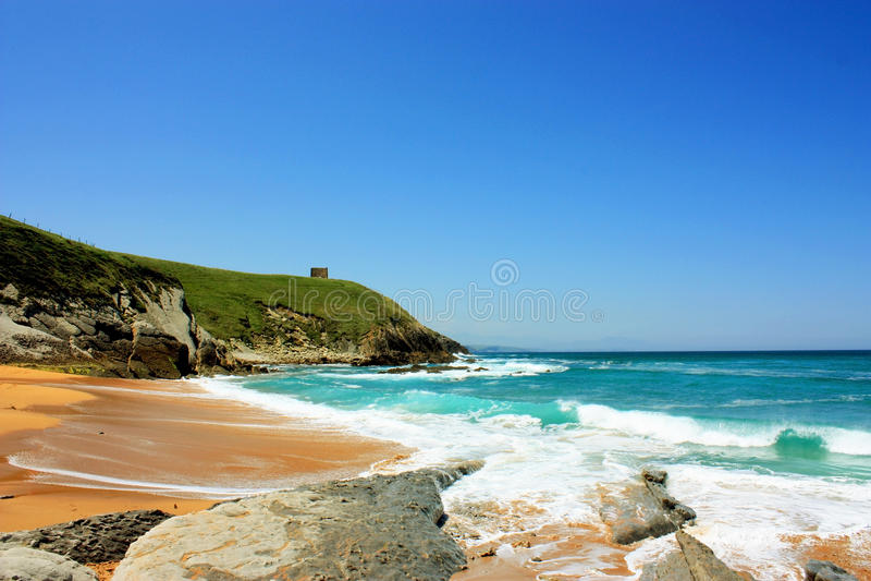 Bahía del océano en España fotos de archivo libres de regalías