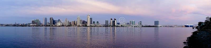 Bahía del Océano Pacífico de la isla de San Diego Wide Panoramic View Coronado fotos de archivo libres de regalías