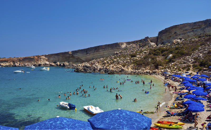 Bahía del paraíso, Malta imagen de archivo libre de regalías