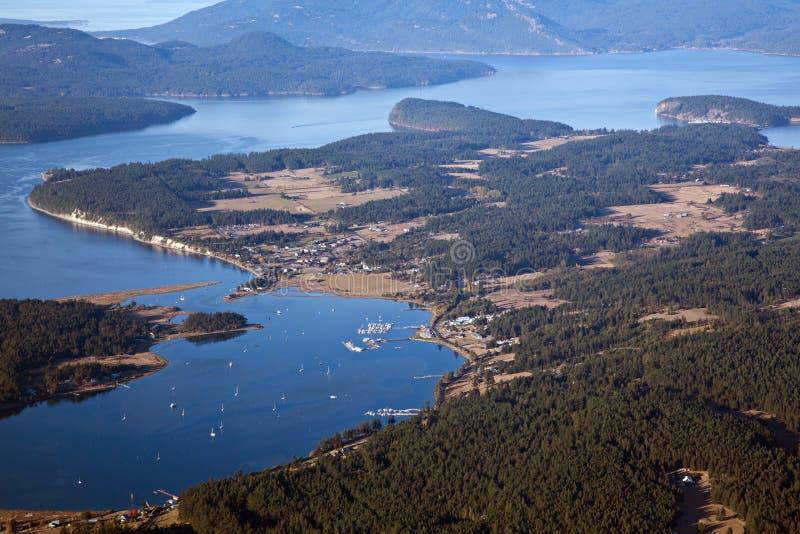 Bahía del pescador en la isla de López imagen de archivo libre de regalías