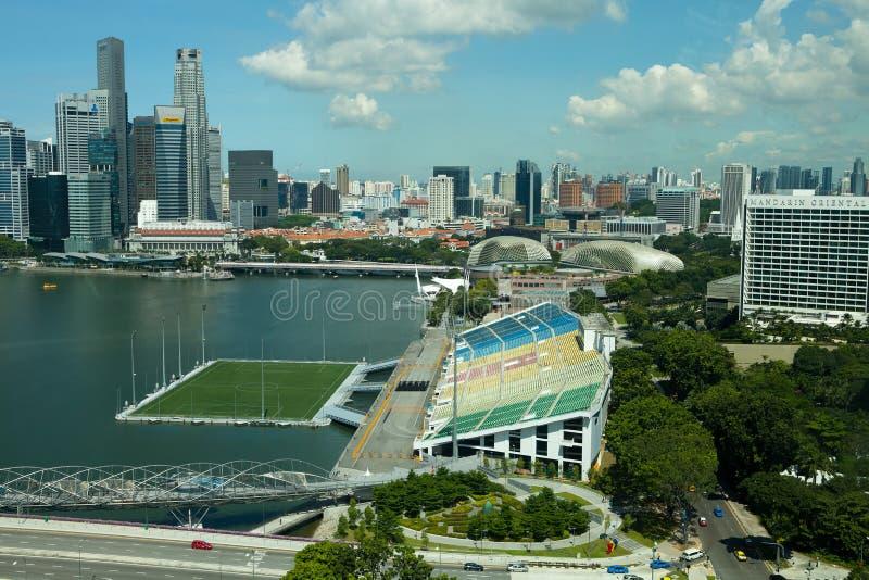 Bahía del puerto deportivo, Singapur imagen de archivo