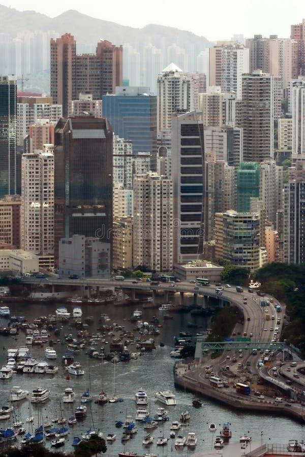 Bahía del terraplén, Hong-Kong. fotografía de archivo