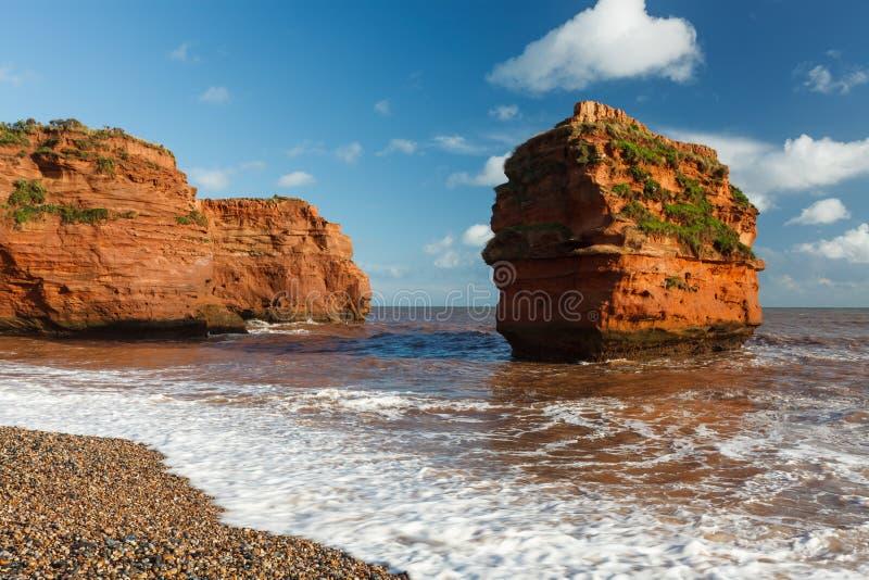 Bahía Devon England Reino Unido de Ladram foto de archivo libre de regalías