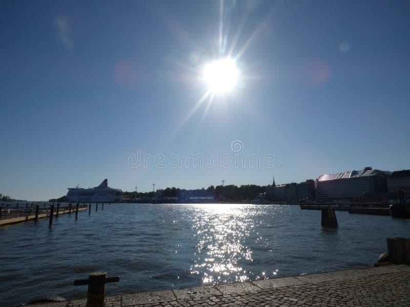 Bahía en Helsinki fotografía de archivo