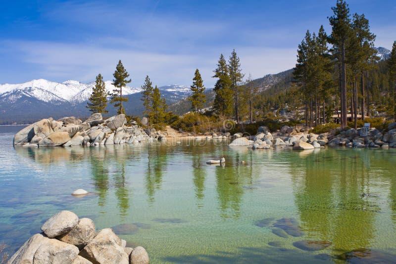 Bahía en Lake Tahoe imagen de archivo