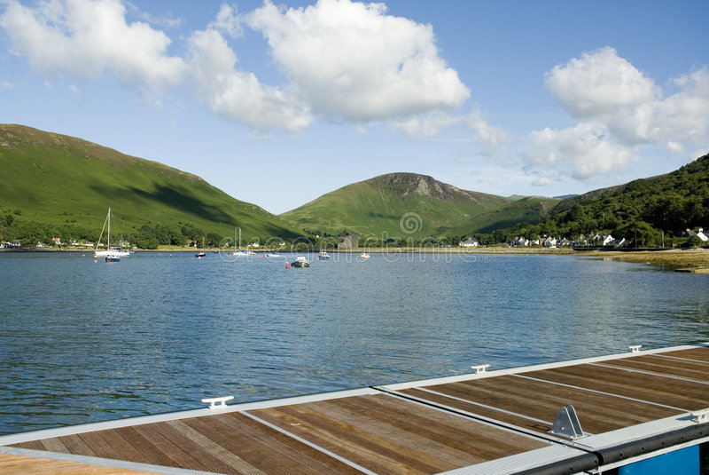 Bahía escocesa imagen de archivo