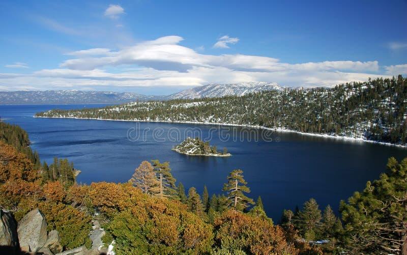 Bahía esmeralda, Lake Tahoe, California fotos de archivo