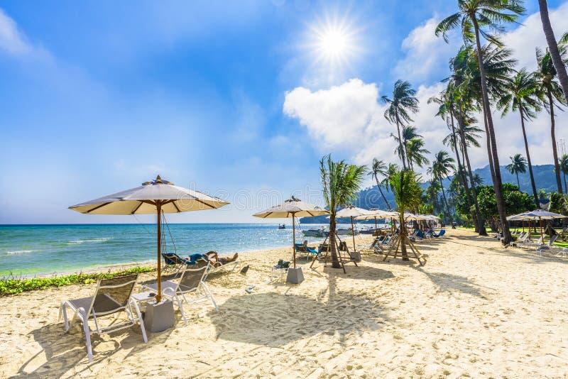 Bahía exótica de Loh Samah de la playa en la isla de Ko Phi Phi Lee, Krabi, mar de Andaman, Tailandia imágenes de archivo libres de regalías