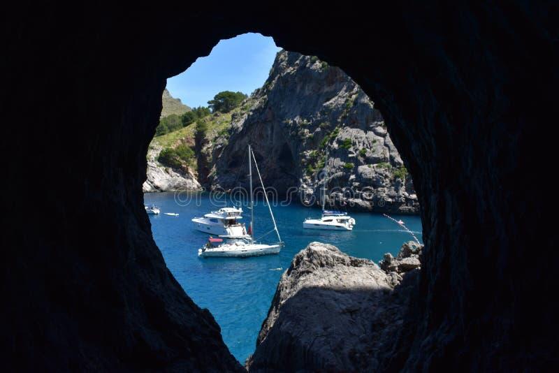 Bahía hermosa Mallorca imagen de archivo libre de regalías