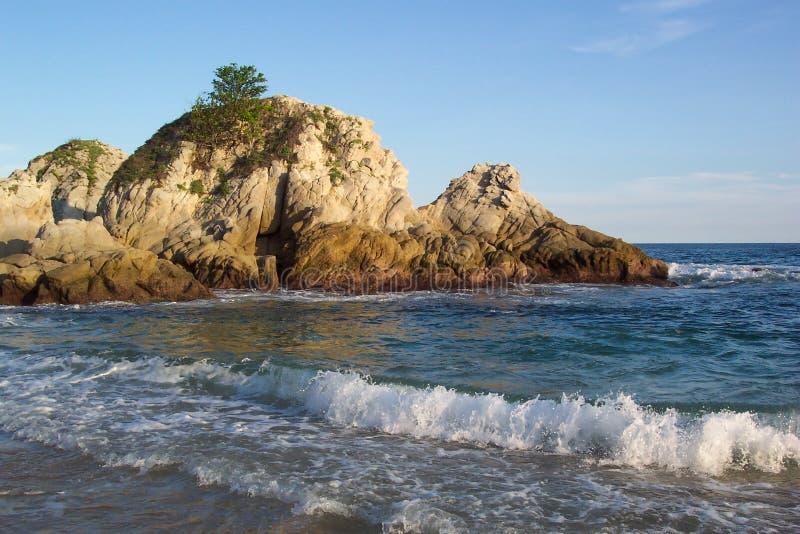 Bahía-Huatulco México de Tangolunda imagen de archivo libre de regalías