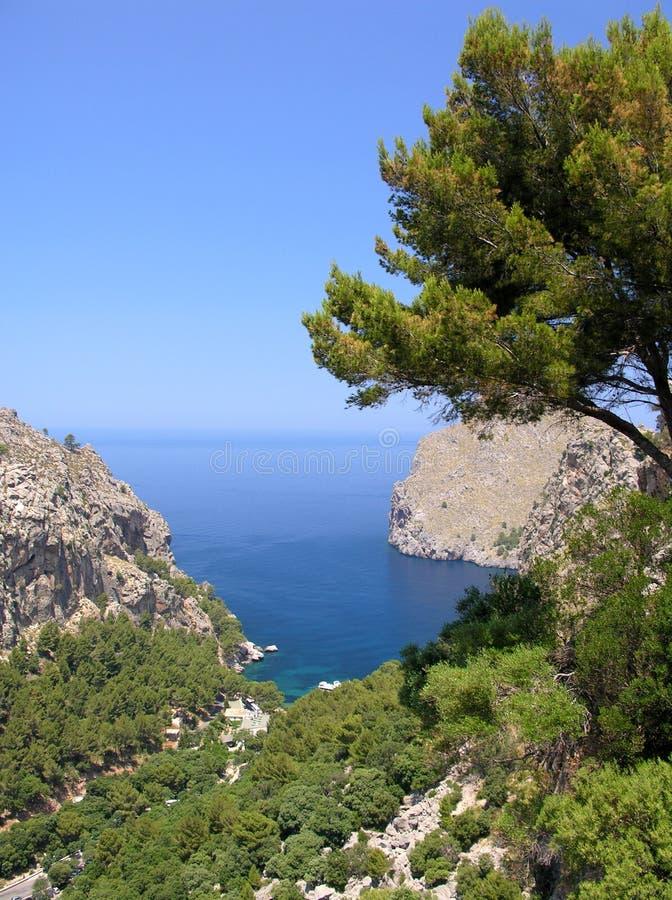 Bahía mediterránea fotografía de archivo libre de regalías