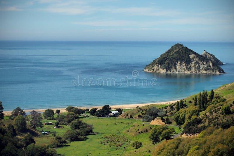Bahía Nueva Zelanda de Anaura fotografía de archivo libre de regalías