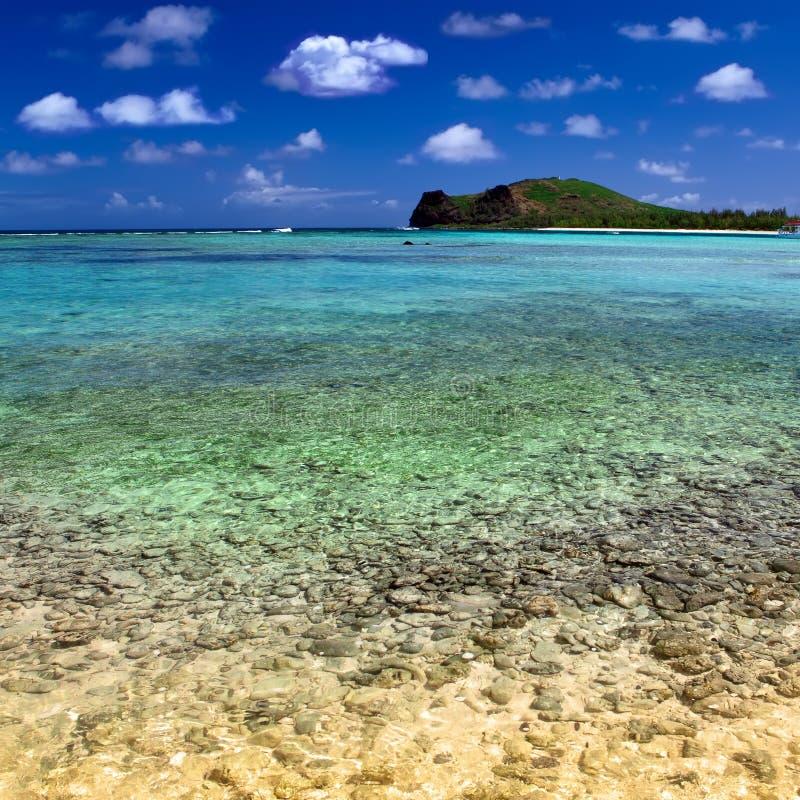 Bahía reservada de la isla Gabriel.Mauritius. imagen de archivo