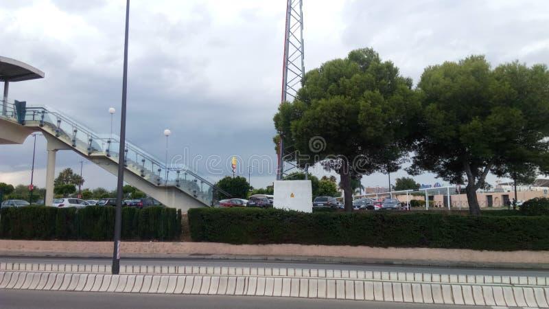 Bahía Sur train station in San Fernando royalty free stock photos