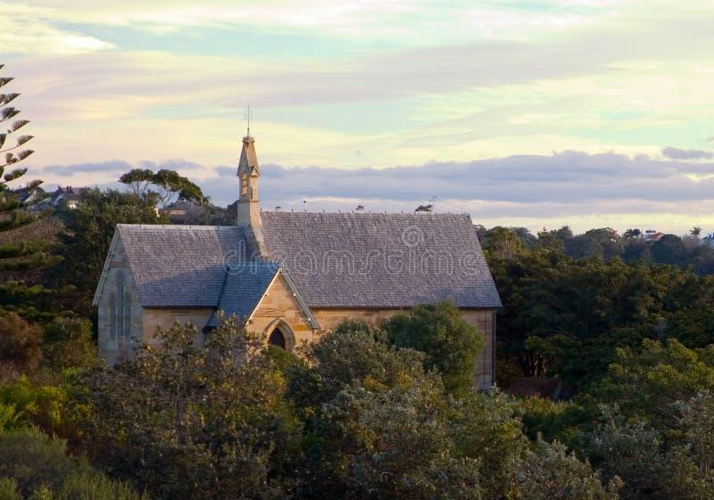 Bahía Sydney de Watsons de la Iglesia Anglicana de San Pedro imágenes de archivo libres de regalías