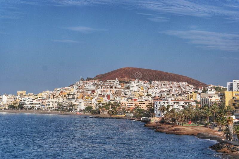 Bahía Tenerife del Los Christianos imagen de archivo libre de regalías