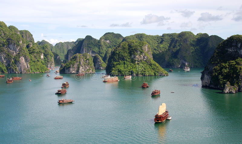 Bahía Vietnam de Halong foto de archivo libre de regalías