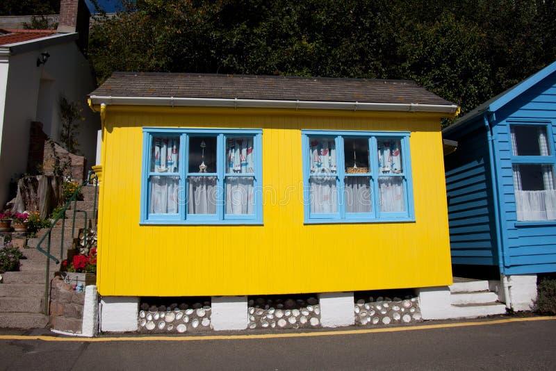Bahía y aldea de Rozel foto de archivo