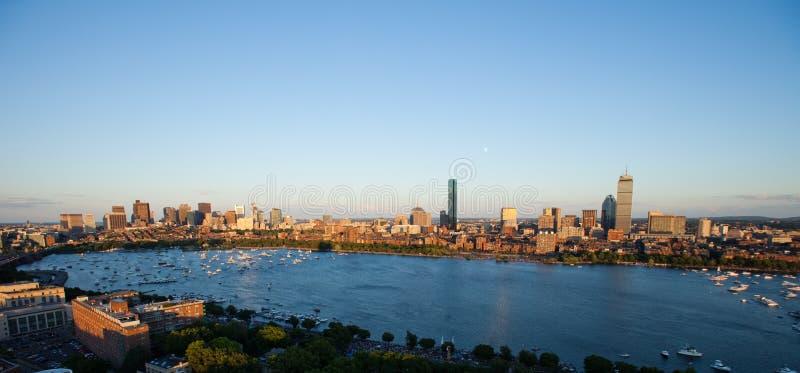 Bahía y Cambridge posteriores, mA de Boston fotografía de archivo